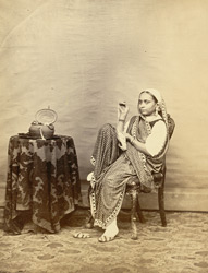 Portrait of an unidentified Indian woman.